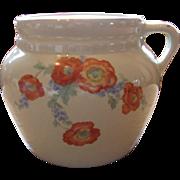 Hall China New England #4 Bean Pot Orange Poppy