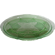 Depression Glass Green Royal Lace Platter