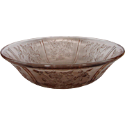 Depression Glass Pink Sharon Fruit Bowl