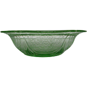 Depression Glass Green Royal Lace Berry Bowl