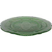 Depression Glass Green Royal Lace Dinner Plate