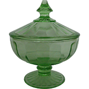 Hazel Atlas Green Candy Dish