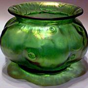 Loetz Creta Rusticana Bulbous Form Vase