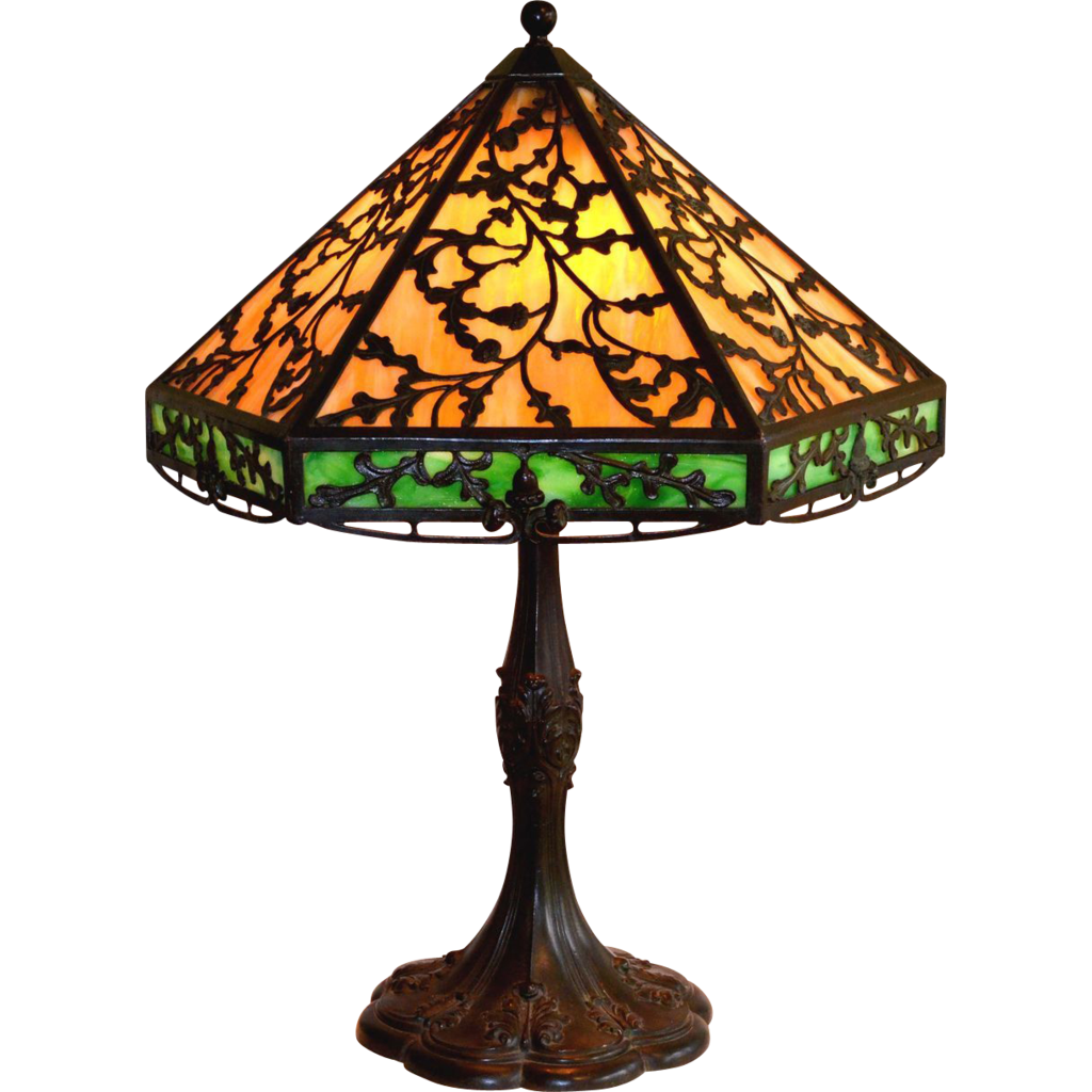 Superior Arts And Crafts Style Slag Glass Lamp By J.A. Whaley : Vintage Lamps And  Lighting | Ruby Lane