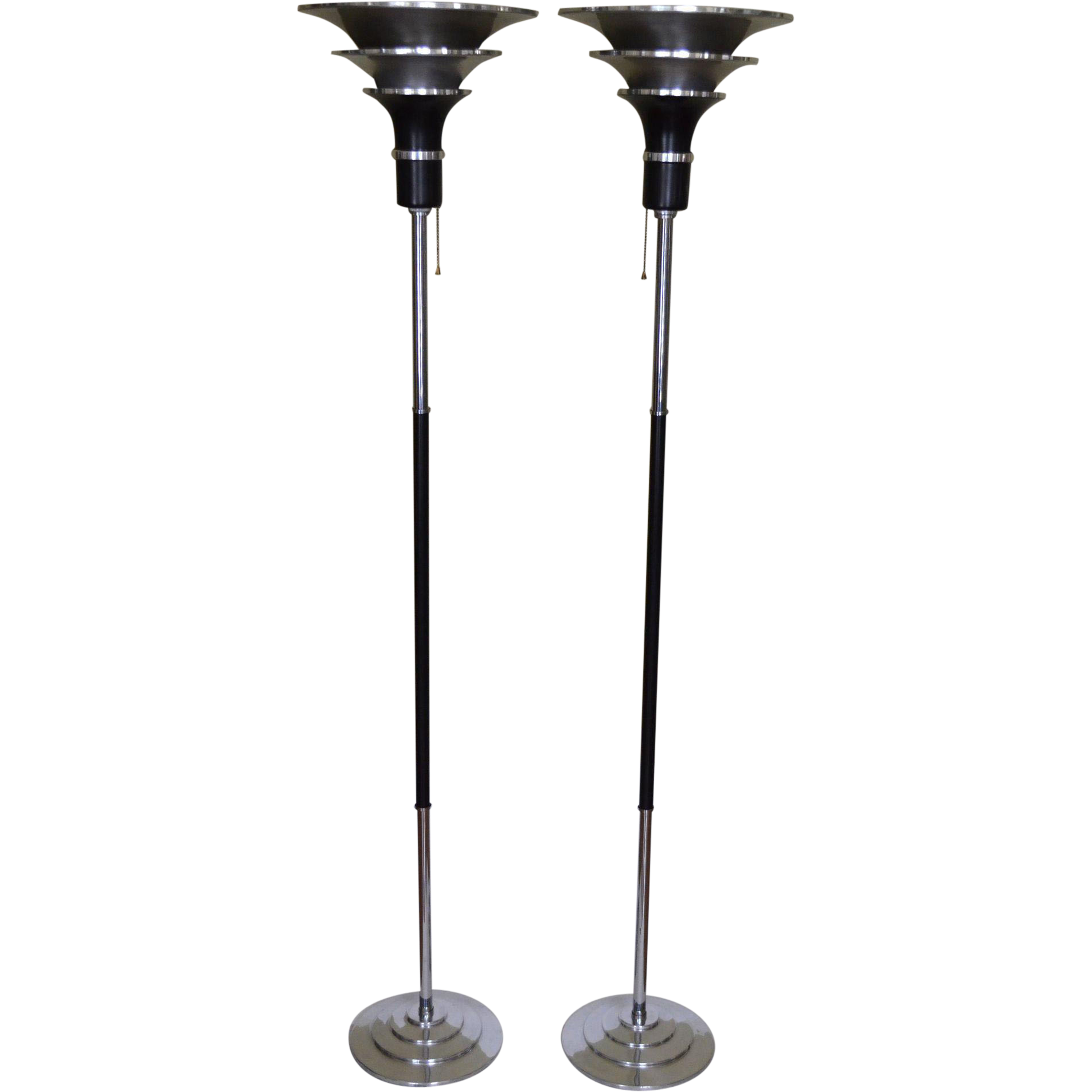 Machine age art deco floor lamps from vintagelampsandlighting on machine age art deco floor lamps audiocablefo Light gallery