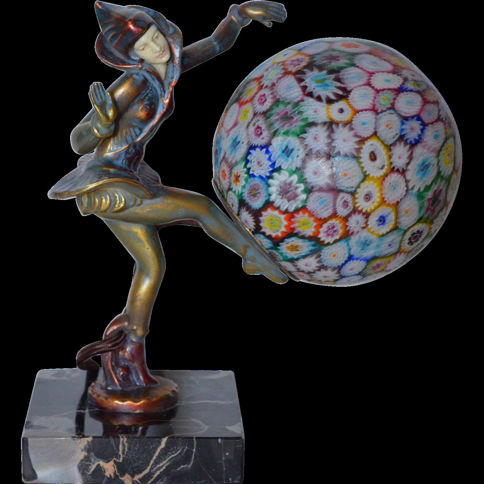 art deco pixie lamp by gerdago from