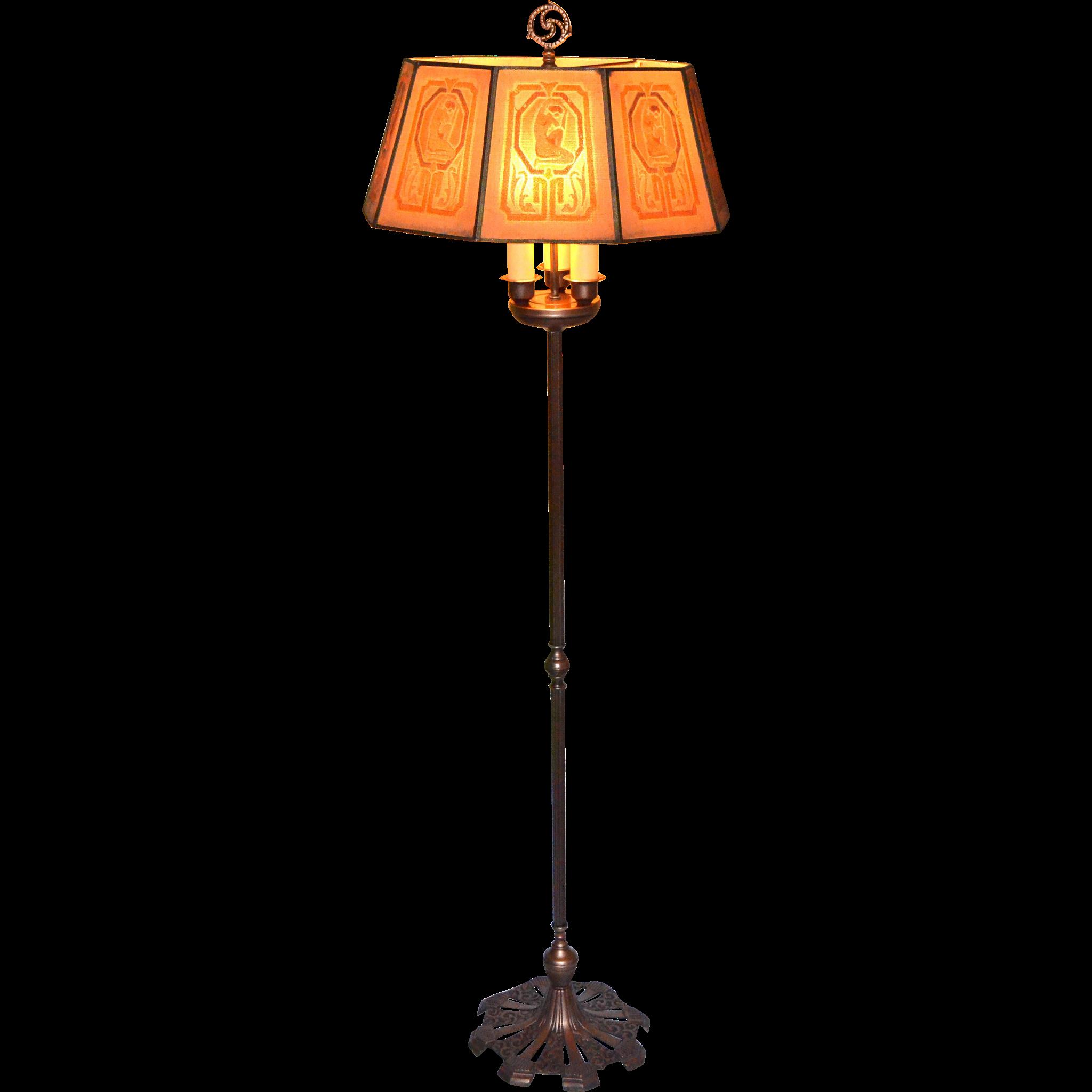 Art deco floor lamp shades gurus floor for Art deco floor lamp melbourne