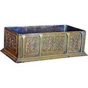 Arts and Crafts Cast Bronze Box With Hand Rivited Decoration
