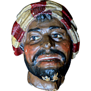 Paper Mache Mask or Wall Decoration of aTurkish Sailor or Pirate