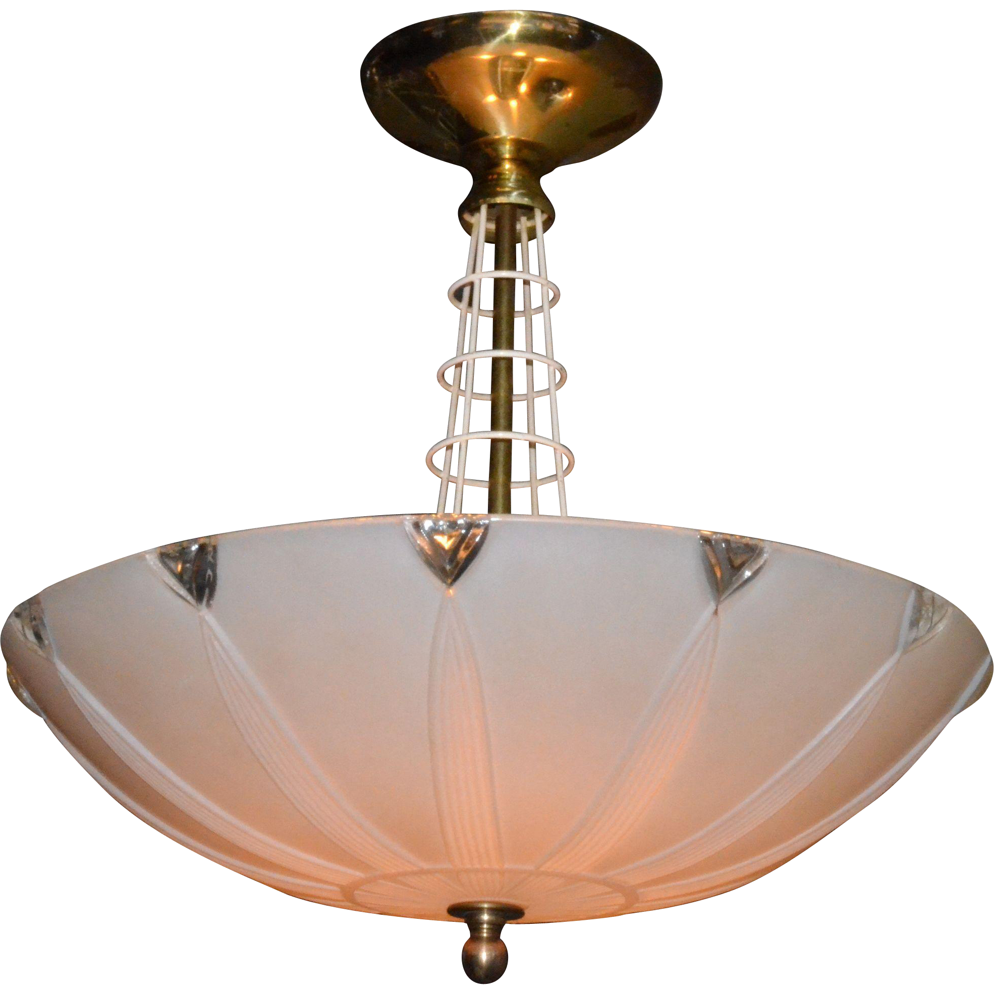 Mid century modern ceiling fixture chandelier from for Mid century modern pendant light fixtures