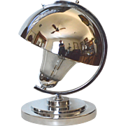 Art Deco Machine Age Modern Chrome Desk/Table Lamp