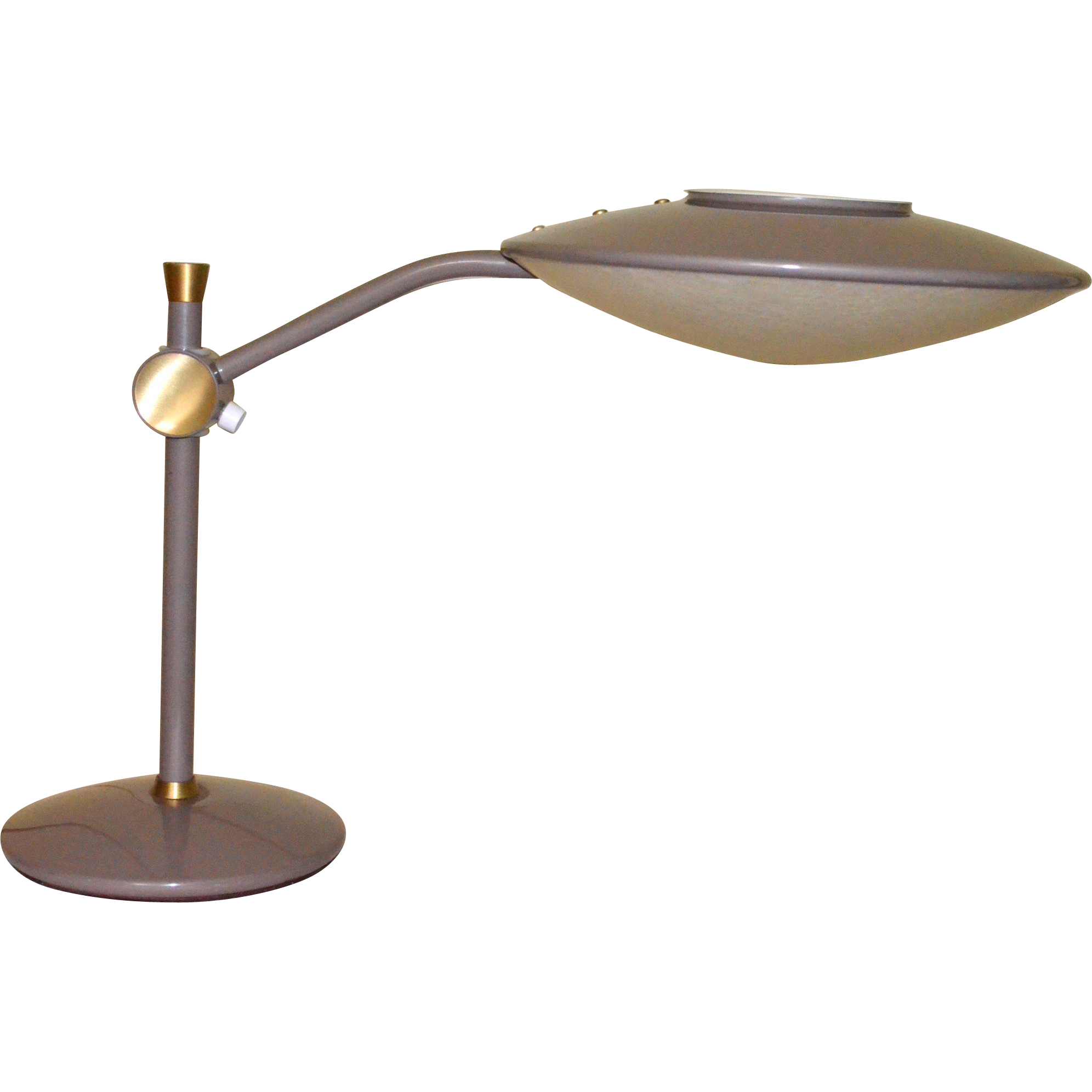 Dazor Model 2008 Mid Century Modern Desk Lamp From
