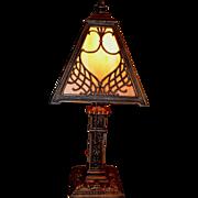 Miller Slag Glass Boudoir Size Lamp