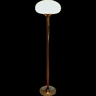 Laurel Lamp Co. Floor Lamp With Mushroom Shade and Mid Century Modern Design