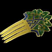 Wonderful Art Deco Celluloid Hair Comb