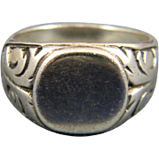 Charming Coin Silver Philippine Signet Ring