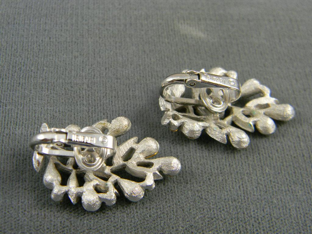 pretty mid century crown trifari earrings from