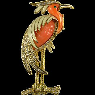 Iconic Hattie Carnegie Heron Brooch