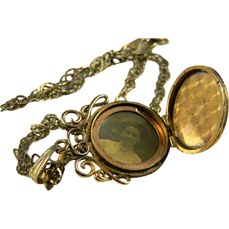 Lovely Gold Filled Locket  Circa 1880-1900