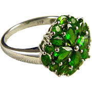 Beautiful Sterling And Emerald Green CZ Ring