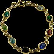 Colorful Gold Filled Lab Gemstone Bracelet