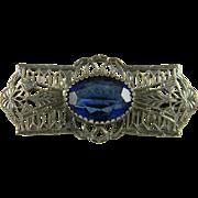 Pretty Art Deco Style Filigree Pin
