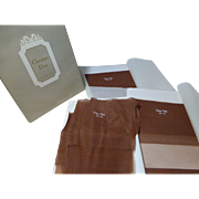 Christian Dior Paris stockings 8.5 Medium 3 pairs Dior Net  French Beige