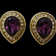 Earrings Oscar de la Renta - clip on pair-