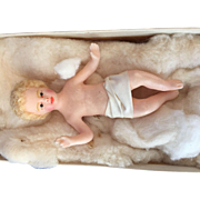 Wax nativity Baby Jesus Christmas creche from a convent