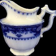 Flow blue Crumlin Jug pitcher creamer by Myott