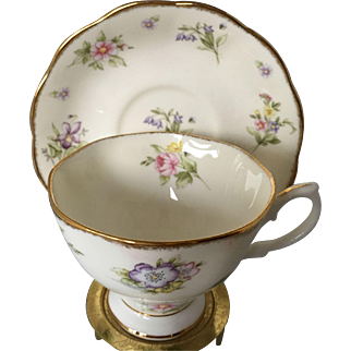 Royal Albert 1920's--Spring Meadow Bone China cup and saucer- 100 years