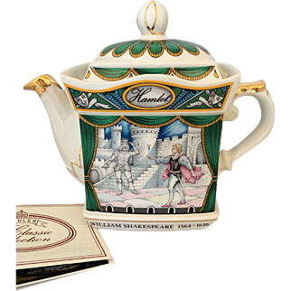 Collectible Sadler China teapot William Shakespeare collection - Hamlet