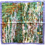 Claude Monet's waterlilies silk scarf Metropolitan museum of art