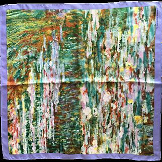 Claude Monet's waterlilies silk scarf Metropolitan museum of art