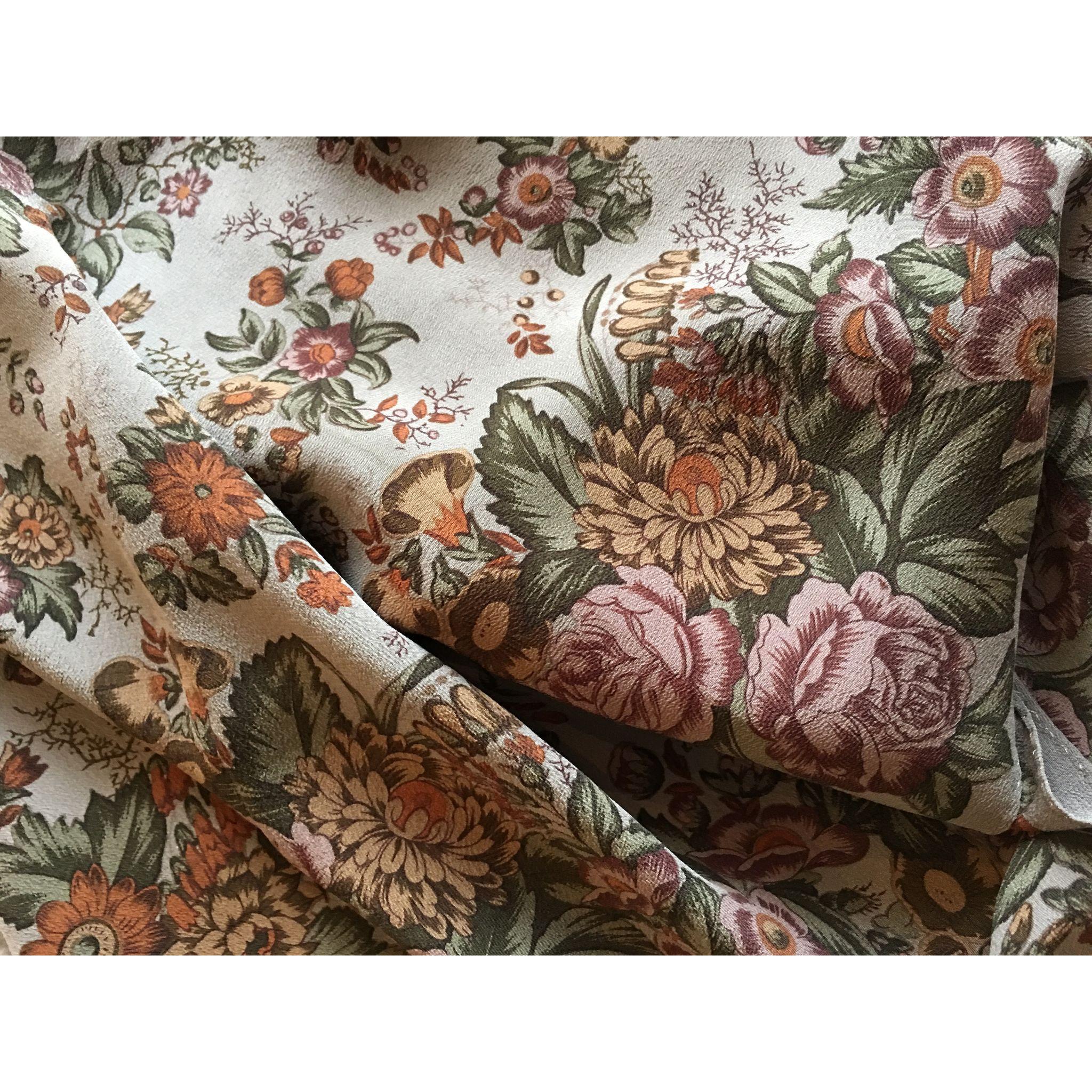 Ralph Lauren Silk chiffon floral small scarf