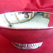 ANTIQUE FRENCH 950 sterling silver 2 handled drinking bowl-écuelle à oreilles-193 gr.Parrot-Dijon