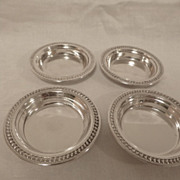 4 International sterling silver nut / bonbons dishes-classic design