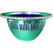 Caviar-Mayonnaise sterling silver bowl - cobalt liner Birks