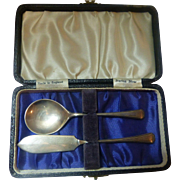 Child's set spoon and knife sterling silver- England