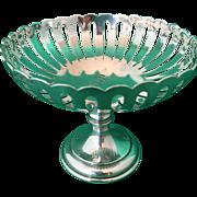 1908 footed pierced candy bonbon nut dish antique sterling silver Birmingham