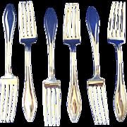Puritan  International silver 6 - six forks- sterling silver  1912