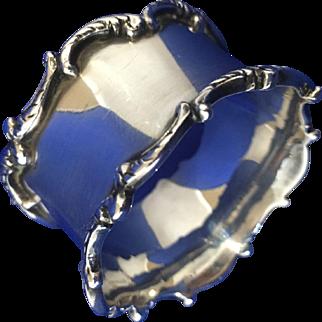 Birks STERLING SILVER  ornate napkin ring