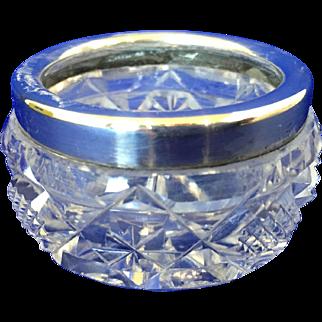 Birks Vintage sterling silver and glass  bowl dish salt vanity