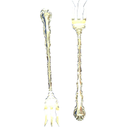 2 antique sterling silver cocktail/seafood forks Gorham Louis XV
