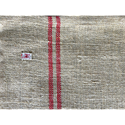 Burlap cotton - jute red 2 red stripes French torch tea/ kitchen towel