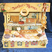 Antique Open-Air Market Toy BAKERY Stand!