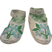Cyber Monday Antique American Indian Child Moccassins!