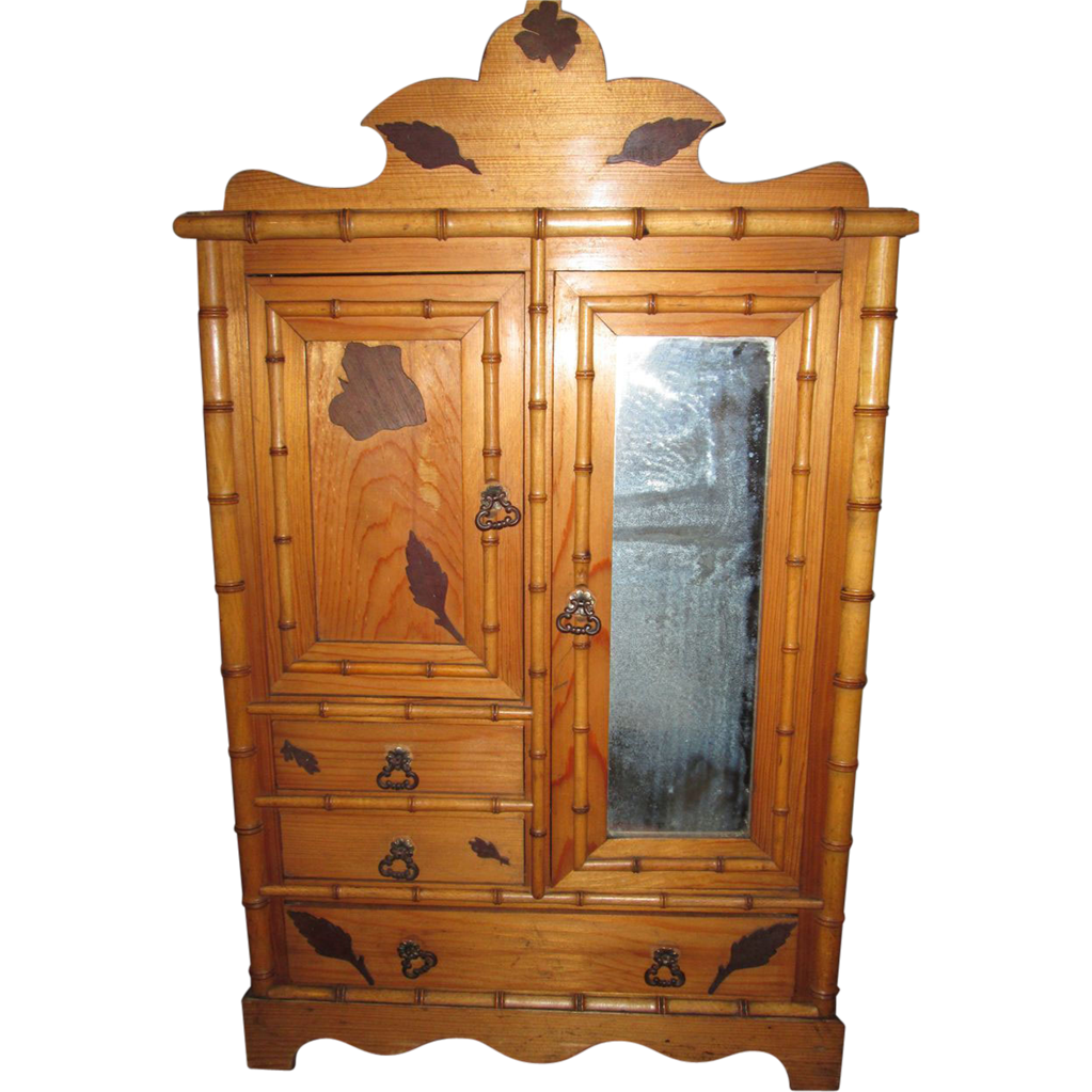 rare grand armoire in large size 4 large french bebe from. Black Bedroom Furniture Sets. Home Design Ideas