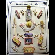 French Doll Accessories Card PRISTINE Nouveaute de Paris!