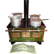 Cyber Monday Wonderful French Toy Stove for Your Doll Scene!